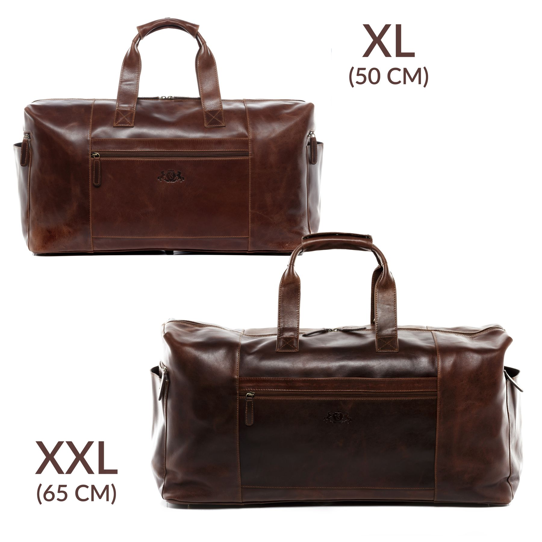 SID   VAIN sac de voyage cuir marron fourre-tout besace week-end sac ... 8cd419e2a4a