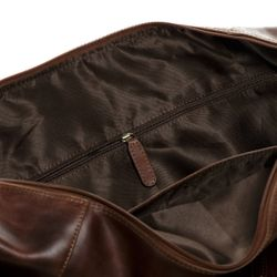 SID & VAIN travel bag carry-all  BRISTOL  weekender duffel bag XL brown Natural Leather overnight duffle bag hold-all  3