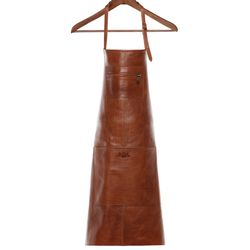 SID & VAIN leather apron HEATHROW  cooking apron L brown Smooth Leather BBQ apron