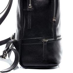 BACCINI Stadt-Rucksack DINA Vintage Leder schwarz Backpack Tagesrucksack Stadtrucksack Rucksack 2