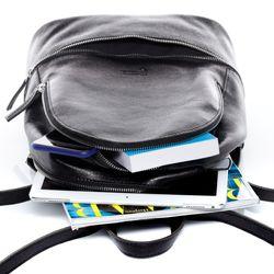BACCINI Stadt-Rucksack DINA Vintage Leder schwarz Backpack Tagesrucksack Stadtrucksack Rucksack 4