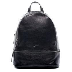 BACCINI Rucksack DINA Lederrucksack groß Vintage Rindsleder schwarz Backpack unisex