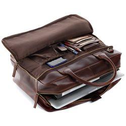 f54e5b9d445 SID & VAIN Businesstas natuurlijk leer Laptoptas bruin Laptoptas RYAN  natuurlijk 2