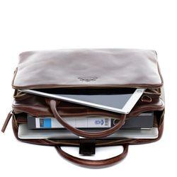 SID & VAIN Laptoptasche RYAN Natur-Leder braun-cognac Businesstasche Laptoptasche 6