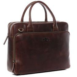 SID & VAIN Laptoptasche RYAN Natur-Leder braun-cognac Businesstasche Laptoptasche 3