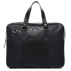 SID & VAIN Laptoptasche Maguire Premium Smooth schwarz Businesstasche Laptoptasche
