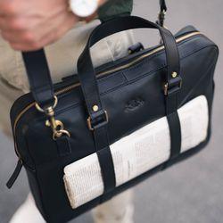 SID & VAIN Laptoptasche Maguire Premium Smooth schwarz Businesstasche Laptoptasche 5