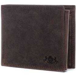SID & VAIN Geldbeutel JACK Büffelleder braun Brieftasche Geldbeutel