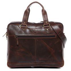 SID & VAIN Laptoptasche Natur-Leder hellbraun-cognac Businesstasche Laptoptasche