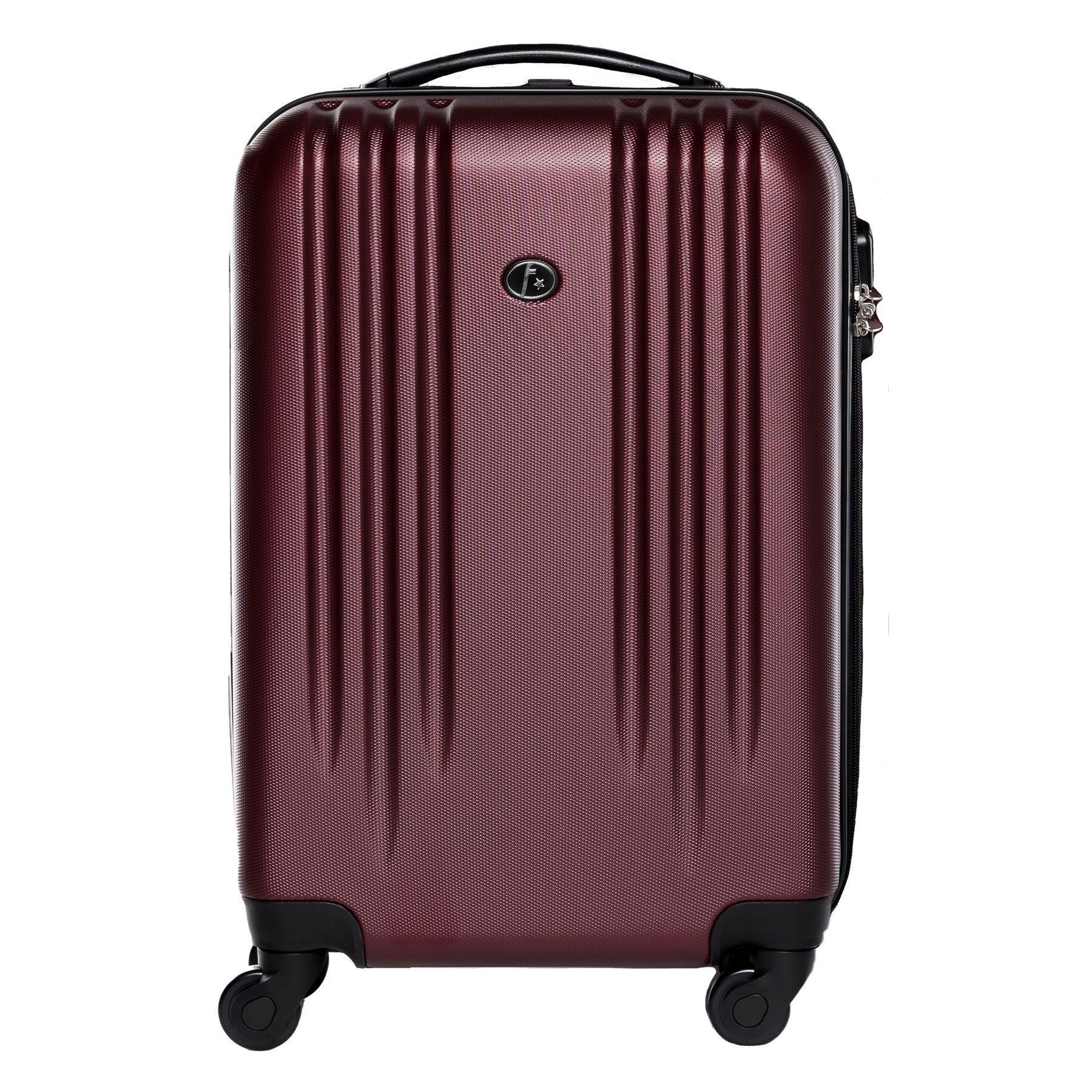 handgep ck hartschalen koffer trolley kabinen reise bordgep ck 55cm 4 rollen rot ebay. Black Bedroom Furniture Sets. Home Design Ideas