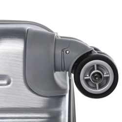 FERGÉ Kofferset 3-teilig mit Leder Adressanhänger CANNES Trolley-Koffer leicht Reisekoffer 3 Größen ABS Dure-Flex Koffer-Set Leicht 3er Hartschalenkoffer Set 4 Zwillingsrollen (360°) 3