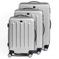 FERGÉ Kofferset 3-teilig mit Leder Adressanhänger LYON Trolley-Koffer leicht Reisekoffer 3 Größen ABS Dure-Flex Koffer-Set Leicht 3er Hartschalenkoffer Set 4 Zwillingsrollen (360°) 2