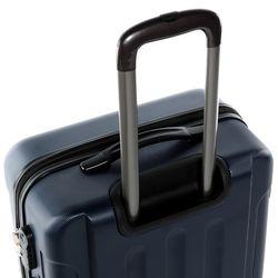 FERGÉ 3er Kofferset + 1x Lederanhänger LYON ABS Dure-Flex dunkelblau 3er Hartschalenkoffer Roll-Koffer 4 Rollen Kofferset Hartschale 3-teilig + 1x Lederanhänger 6