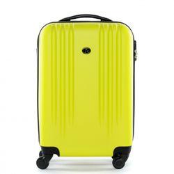 FERGÉ 3er Kofferset + 1x Lederanhänger Marseille ABS Dure-Flex gelb 3er Hartschalenkoffer Roll-Koffer 4 Rollen Kofferset Hartschale 3-teilig + 1x Lederanhänger 2