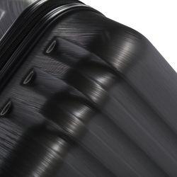 FERGÉ 3er Kofferset + 1x Lederanhänger Marseille ABS Dure-Flex anthrazit Metal Optik 3er Hartschalenkoffer Roll-Koffer 4 Rollen Kofferset Hartschale 3-teilig + 1x Lederanhänger 9