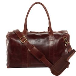 SID & VAIN travel bag YALE -1710- weekender PULL-UP leather - brown-cognac