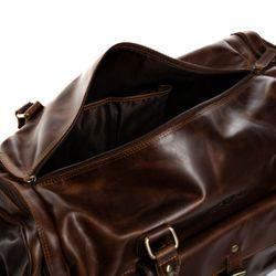 SID & VAIN Reisetasche mit Adressanhänger Natur-Leder braun-cognac Sporttasche Reisetasche mit Adressanhänger 3