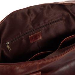 SID & VAIN Reisetasche mit Adressanhänger Natur-Leder braun-cognac Sporttasche Reisetasche mit Adressanhänger 4