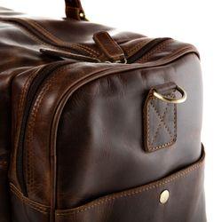SID & VAIN Reisetasche mit Adressanhänger Natur-Leder braun-cognac Sporttasche Reisetasche mit Adressanhänger 5