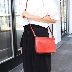BACCINI Clutch LORENA Vintage Leder rot Abendtasche Clutch mit langem Schultergurt 5