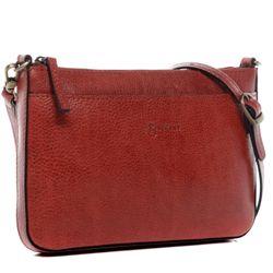 BACCINI Clutch LORENA Vintage Leder rot Abendtasche Clutch mit langem Schultergurt 2