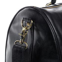 SID & VAIN sac de voyage cuir noir fourre-tout besace week-end sac sport bagages cabine à main 4