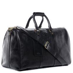 SID & VAIN sac de voyage cuir noir fourre-tout besace week-end sac sport bagages cabine à main 3