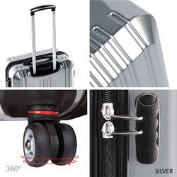 FERGÉ Trolley XL CANNES Koffer Groß leicht 4 Rollen (360°) XL ABS & PC Koffer Leicht Trolley-Hartschalenkoffer