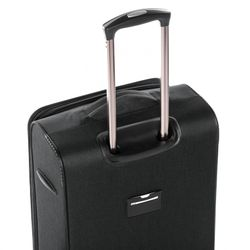 FERGÉ Handgepäck-Koffer Saint-Tropez Bordgepäck-Trolley Weichschale carry-on Nylon-Denim Koffer Leicht Stoffkoffer Kabinentrolley 4 Rollen (360°) 3