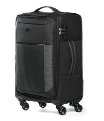 FERGÉ Handgepäck-Koffer Saint-Tropez Bordgepäck-Trolley Weichschale carry-on Nylon-Denim Koffer Leicht Stoffkoffer Kabinentrolley 4 Rollen (360°) 2