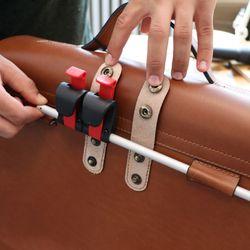 SID & VAIN Fahrradtasche BRIGHTON-BIKE Sattelleder hellbraun Aktentasche mit KlickFix Adapter Fahrradtasche 2