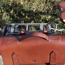 SID & VAIN Fahrradtasche BRIGHTON-BIKE Sattelleder braun Aktentasche mit KlickFix Adapter Fahrradtasche 4