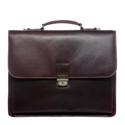 FEYNSINN serviette ordinateur portable cuir marron cartable porte-document attaché-case sac de travail avec sangle