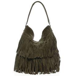 BACCINI hobo bag SAMIRA  shoulder bag L green Suede  ladies leather bag with long shoulder strap