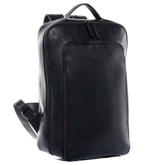 SID & VAIN Laptoprucksack Echtleder DYLAN schwarz Kurierrucksack 15 | Taschen > Rucksäcke > Sonstige Rucksäcke | SID & VAIN