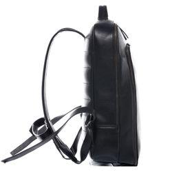 SID & VAIN Laptoprucksack DYLAN Premium Smooth schwarz Kurierrucksack Laptoprucksack 2