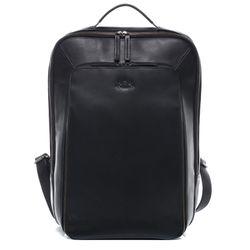 SID & VAIN Laptoprucksack DYLAN Premium Smooth schwarz Kurierrucksack Laptoprucksack 3