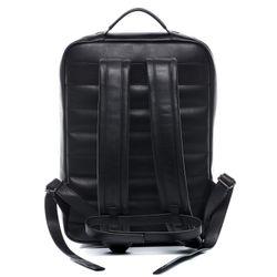 SID & VAIN Laptoprucksack DYLAN Premium Smooth schwarz Kurierrucksack Laptoprucksack 4
