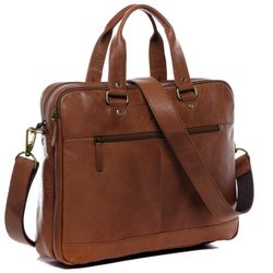 SID & VAIN Laptoptasche YANN Premium Smooth hellbraun-cognac Businesstasche Laptoptasche 8