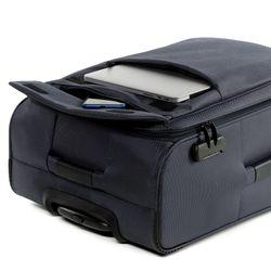 FERGÉ 3er Kofferset Calais Nylon dunkelblau 3er StoffKoffer Roll-Koffer 4 Rollen Kofferset 3-teilig Weichschale 5