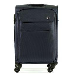 FERGÉ 3er Kofferset Calais Nylon dunkelblau 3er StoffKoffer Roll-Koffer 4 Rollen Kofferset 3-teilig Weichschale 6