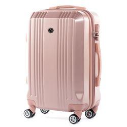 FERGÉ 3er Kofferset CANNES ABS Dure-Flex pink 3er Hartschalenkoffer Roll-Koffer 4 Rollen Kofferset Hartschale 3-teilig 5