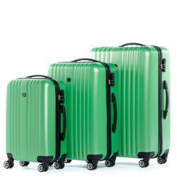 FERGÉ Kofferset 3-teilig Hartschale Apfel-Grün 3er Hartschalenkoffer Trolley-Set 4 Zwillings-Rollen 360° Kofferset 3-teilig Hartschale 2