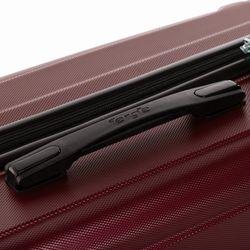FERGÉ Handgepäck-Koffer QUÉBEC ABS Dure-Flex Burgundrot Reisekoffer Kabinen-Trolley 4 Rollen Handgepäck-Koffer Hartschale 6