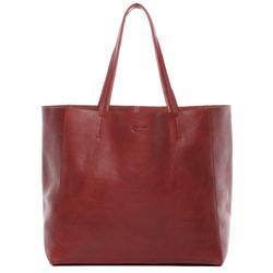 BACCINI Handtasche Vintage Leder rot Henkeltasche Handtasche mit langen Henkeln