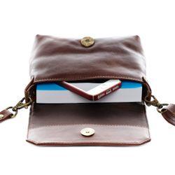 SID & VAIN Umhängetasche KERBY Handtasche mit Schultergurt S Glattleder Umhängetasche Messenger Schultertasche 6