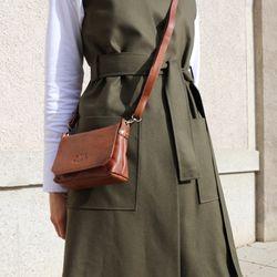 SID & VAIN Umhängetasche KERBY Handtasche mit Schultergurt S Glattleder Umhängetasche Messenger Schultertasche 5