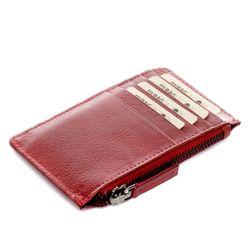 FEYNSINN Kartenetui RIGA Vintage Leder rot kleine Geldbörse Kreditkartenhalter Kartenetui 4
