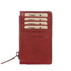 FEYNSINN cardholder RIGA  wallet (slim) M red Smooth Leather billfold extra-thin