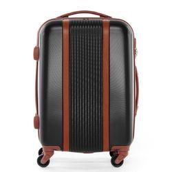 FERGÉ bagage cabine 4 roues ABS noir valise de cabine rigide leger bagage à main trolley 4 roulettes 360 degrés